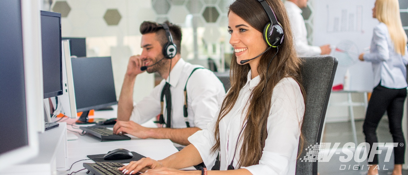 Customer service agents solving customer issues